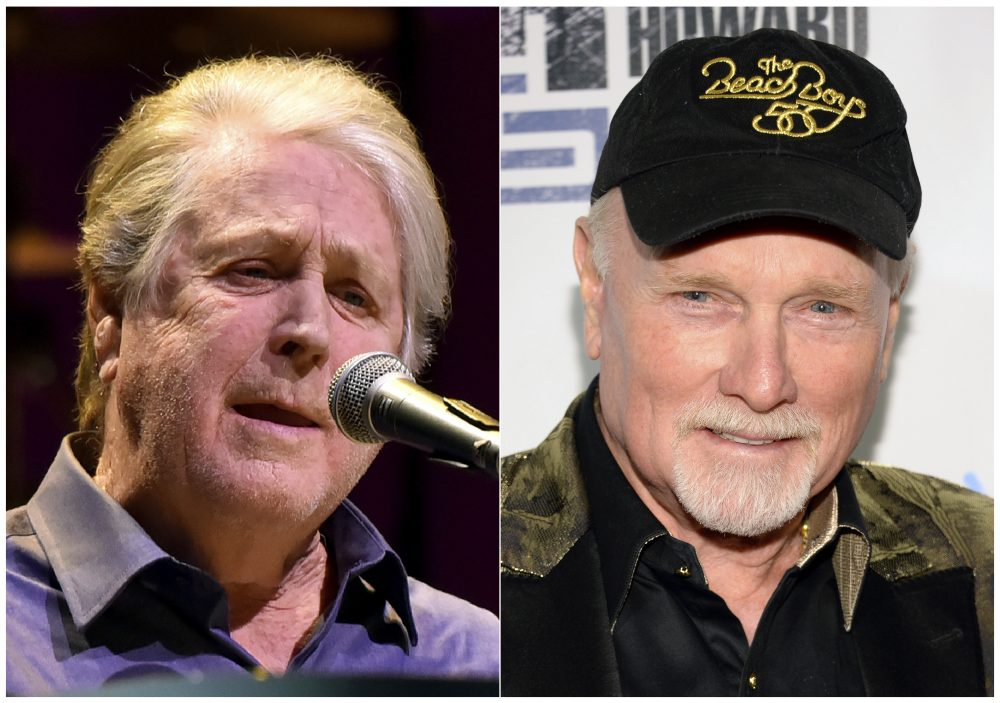 Brian Wilson, left, and  Mike Love of The Beach Boys
