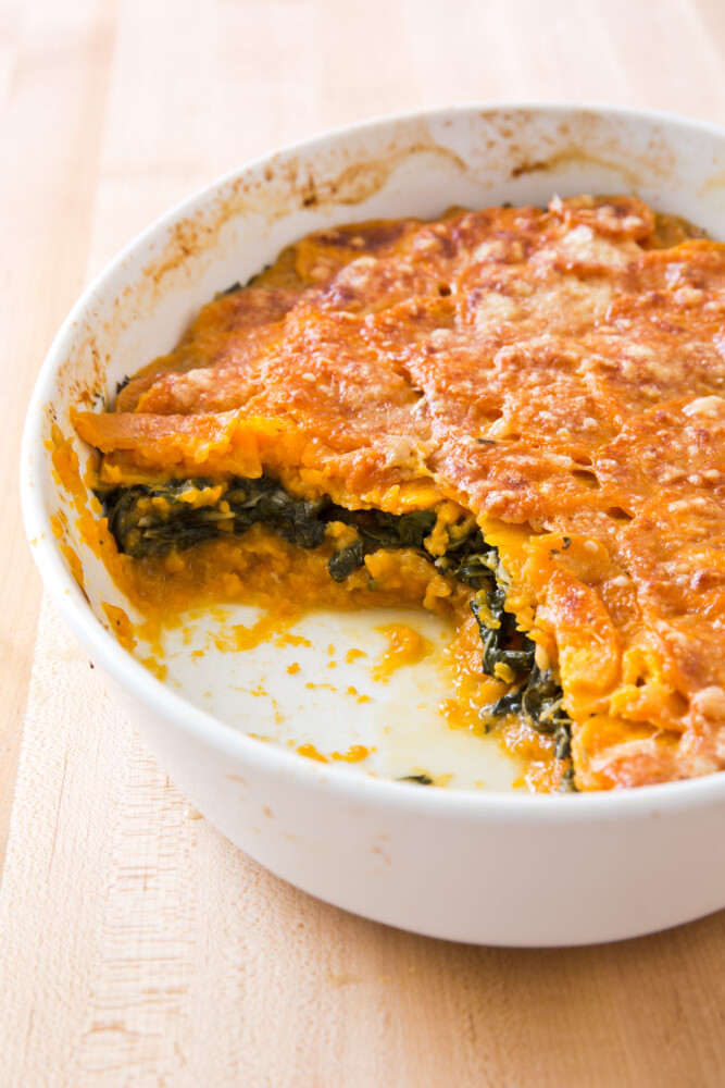 Sweet Potato and Swiss Cheese Gratin