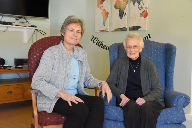 Sister Judy Donovan, left,  and Annette Rioux.