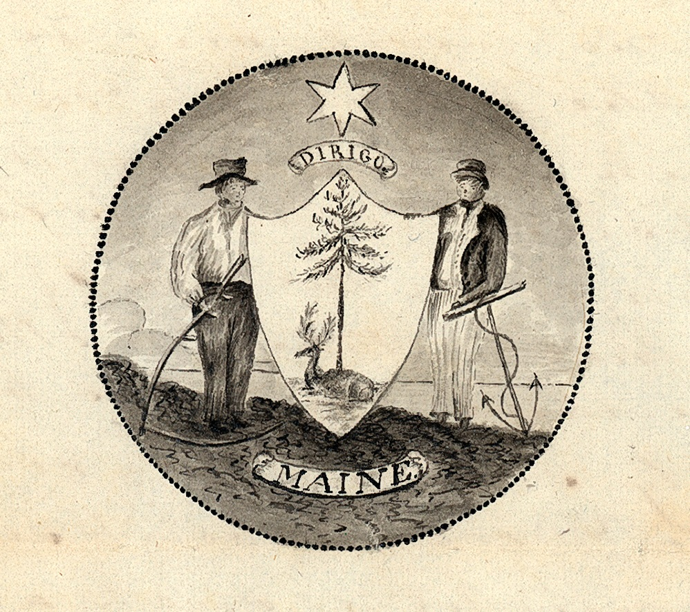 Maine State Seal from the Legislative Resolve