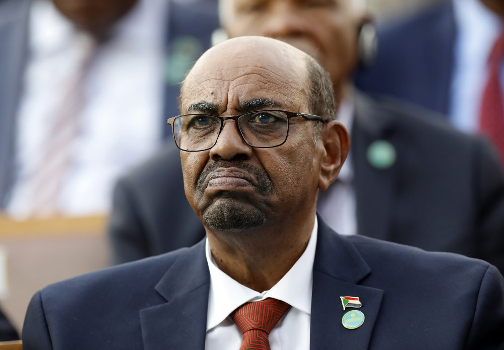 Sudan's President Omar al-Bashir attends a ceremony for Turkey's President Recep Tayyip Erdogan, at the Presidential Palace in Ankara, Turkey, in 2018. A top Sudanese official said authorities and rebel groups have agreed to hand over al-Bashir to the International Criminal Court for war crimes, including mass killings in Darfur.