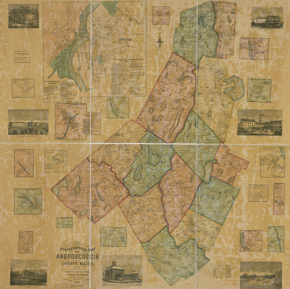 Map of Androscoggin County dated 1858.