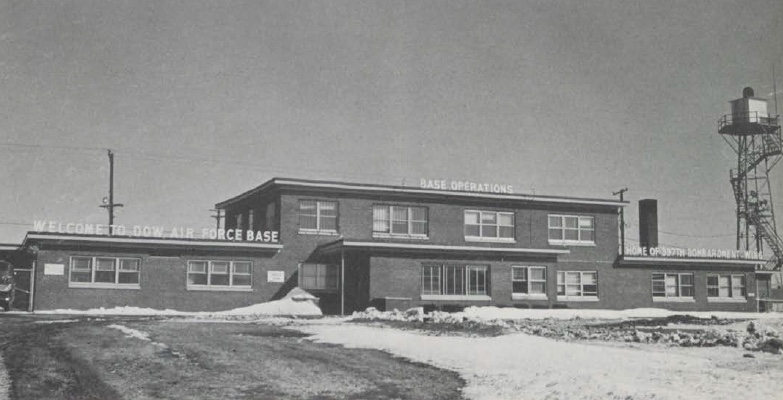 "The Base Operations building at Dow Air Force Base from ""A Guide to Dow AFB"" published in 1960."