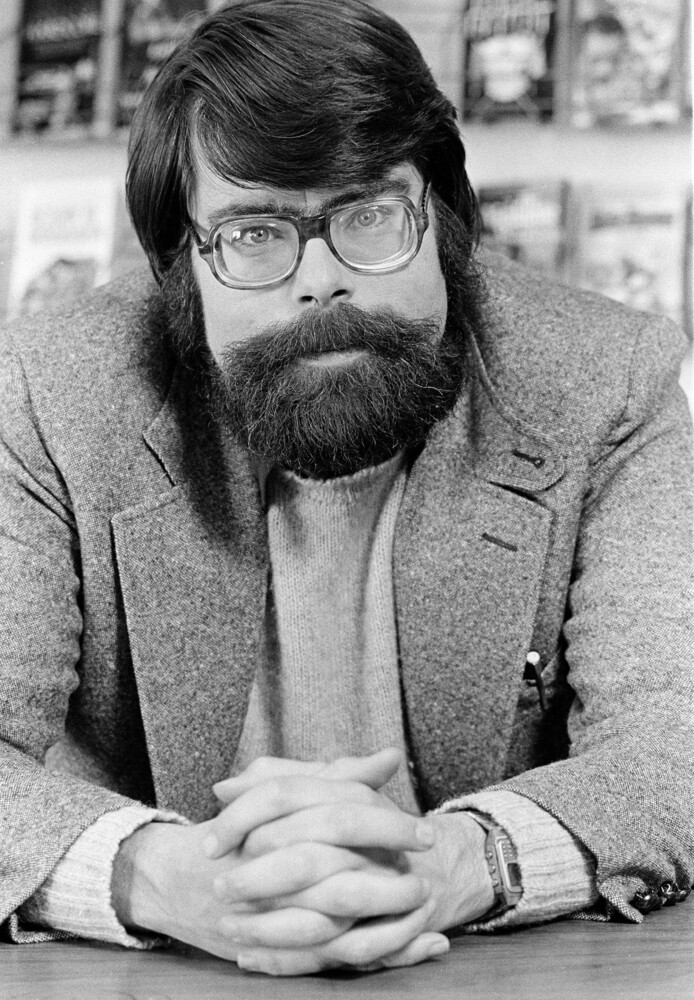 """People like to be scared,"" according to writer Stephen King, pictured in New York City in March, 1979."