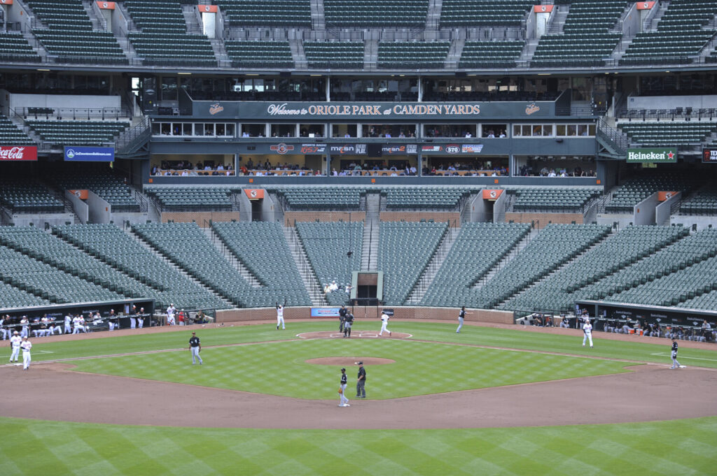 The Baltimore Orioles hosted the Chicago White Sox in a game on April 29, 2015 that was played in an empty stadium due to civil unrest in Baltimore. U.S. sports leaders are now weighing whether to bar fans from ballparks and stadiums to help stall the coronavirus outbreak.
