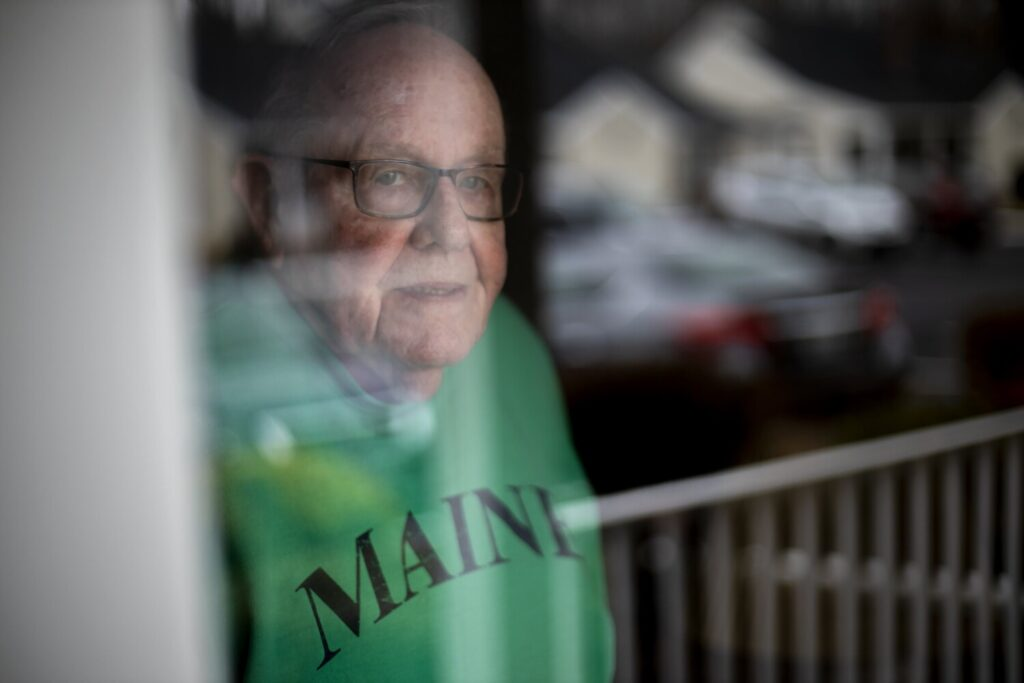 Ronald Drouin of Biddeford, 86, who has chronic obstructive pulmonary disease is isolated in his home in Biddeford.