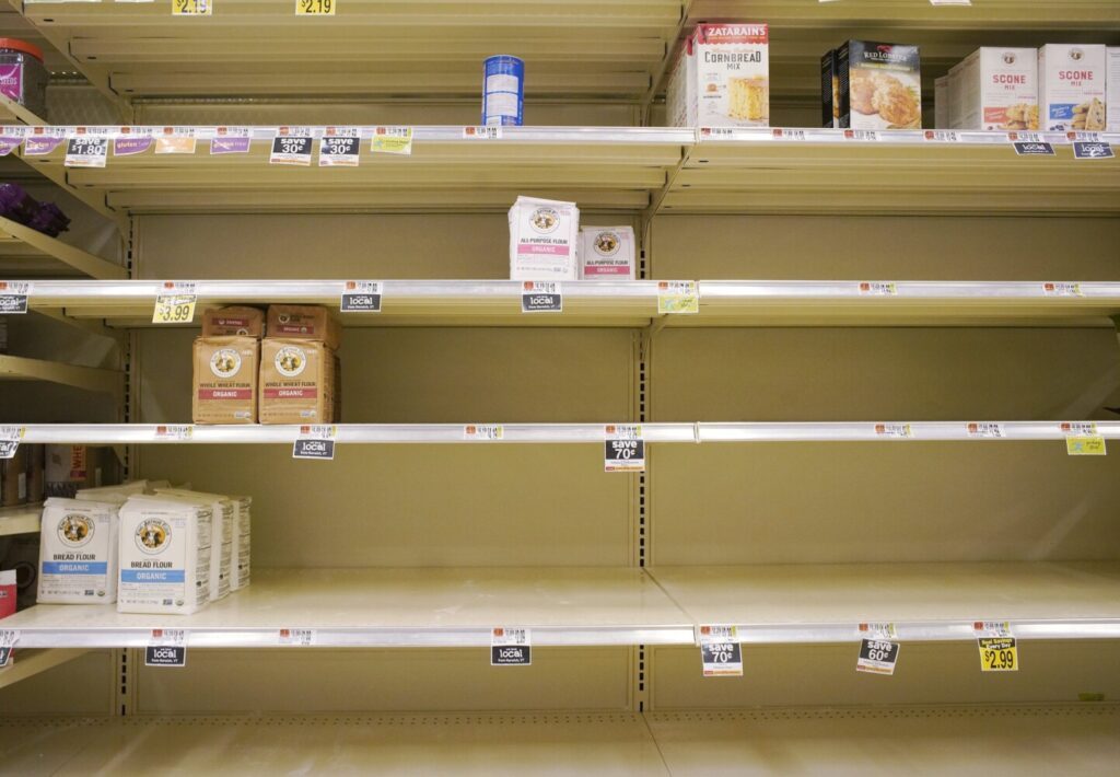 Shortages of some grocery list staples could last for months