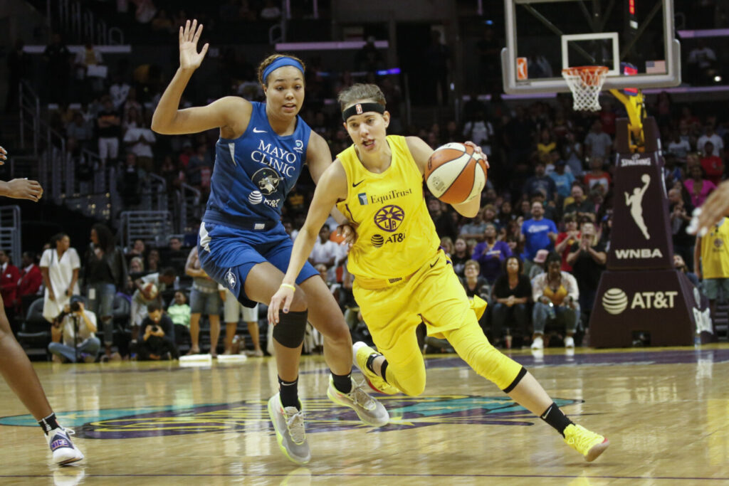 Los Angeles Sparks' Sydney Wiese posted on Twitter that she has tested positive for COVID-19. She said she has only mild symptoms, but knows she is capable of spreading the disease.