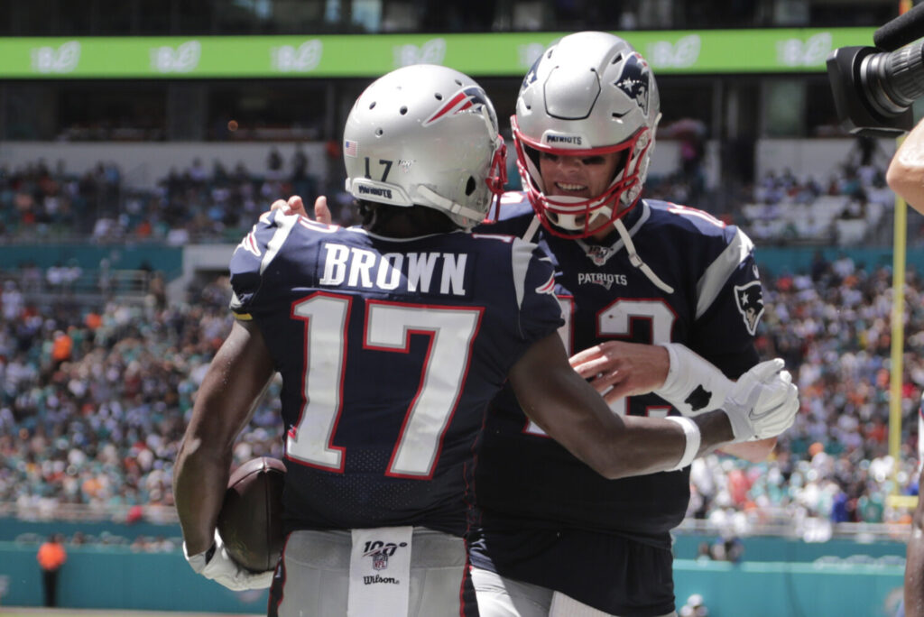 Antonio Brown and Tom Brady played one game together as members of the New England Patriots. A reunion in Tampa Bay will not happen, according to Coach Bruce Arians.