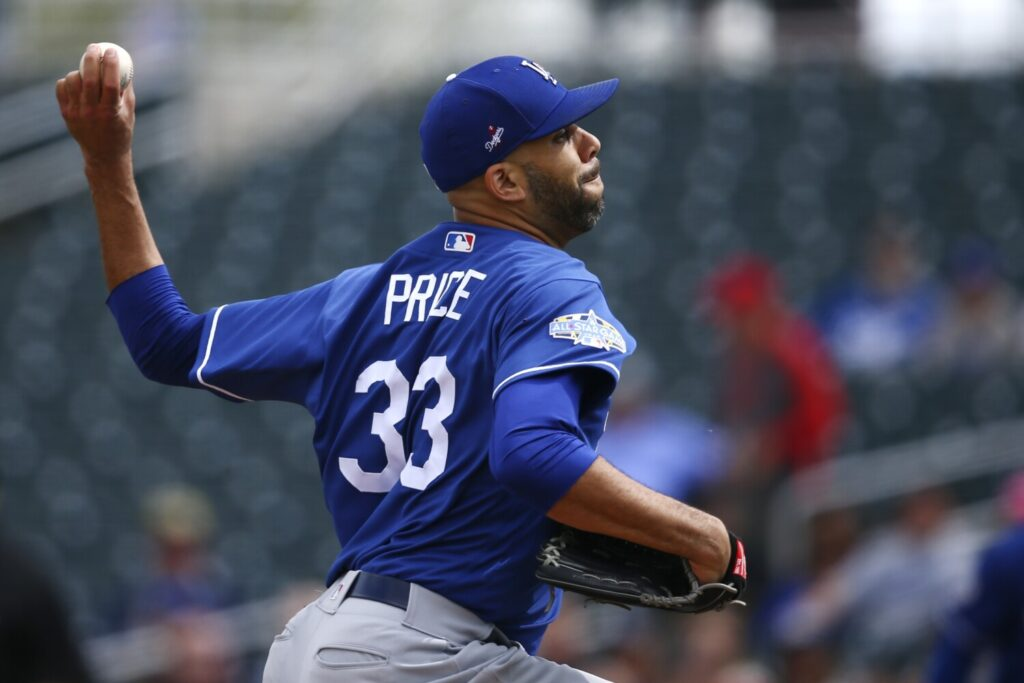David Price allowed two runs on three hits in 1 1/2 innings in his first start of the spring for the Los Angeles Dogers on Monday.