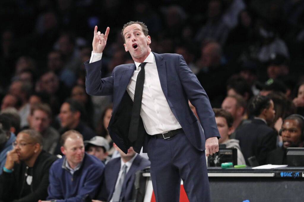 Brooklyn Coach Kenny Atkinson, shown coaching against Memphis on Wednesday, was fired by the team on Saturday.