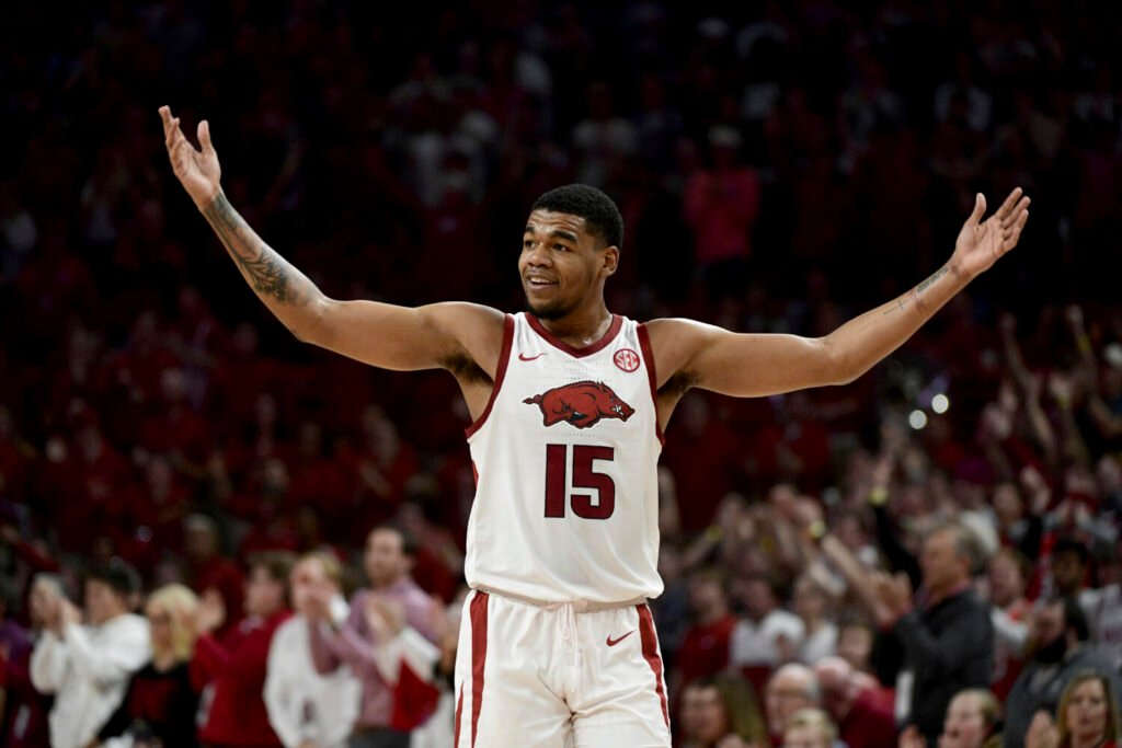 Arkansas guard Mason Jones, who was the co-SEC player of the year, has declared for the NBA draft.