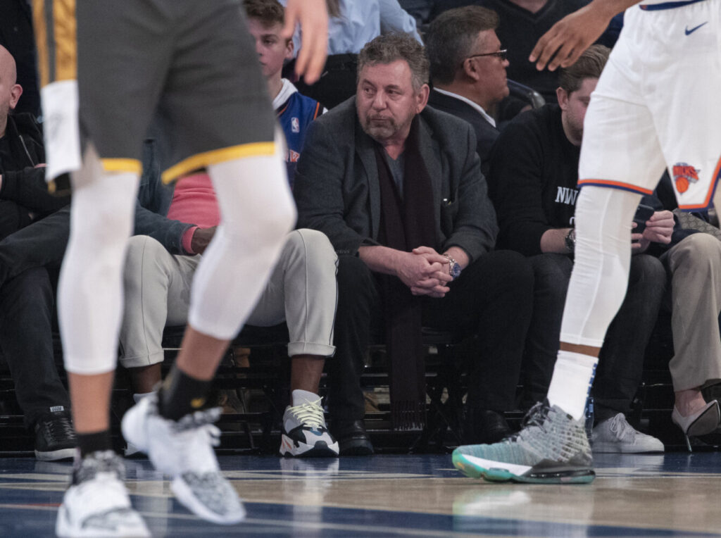 James Dolan, the executive chairman of Madison Square Garden Company and owner of the Knicks, has tested positive for the coronavirus.
