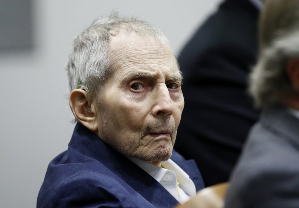 Real estate heir Robert Durst sits during his murder trial at the Airport Branch Courthouse in Los Angeles on Wednesday. After a Hollywood film about him, an HBO documentary full of seemingly damning statements, and decades of suspicion, Durst is now on trial for murder.