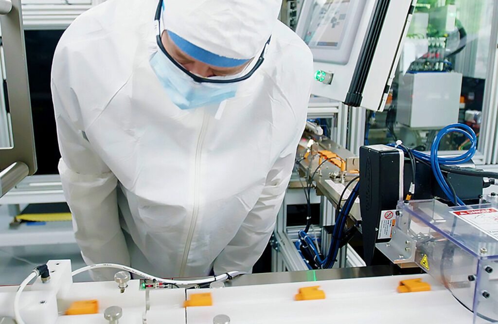 Abbott Laboratories helped design and is mass producing a new COVID-19 test that will give results within minutes. Test components are being made in Abbott's Scarborough manufacturing facility.