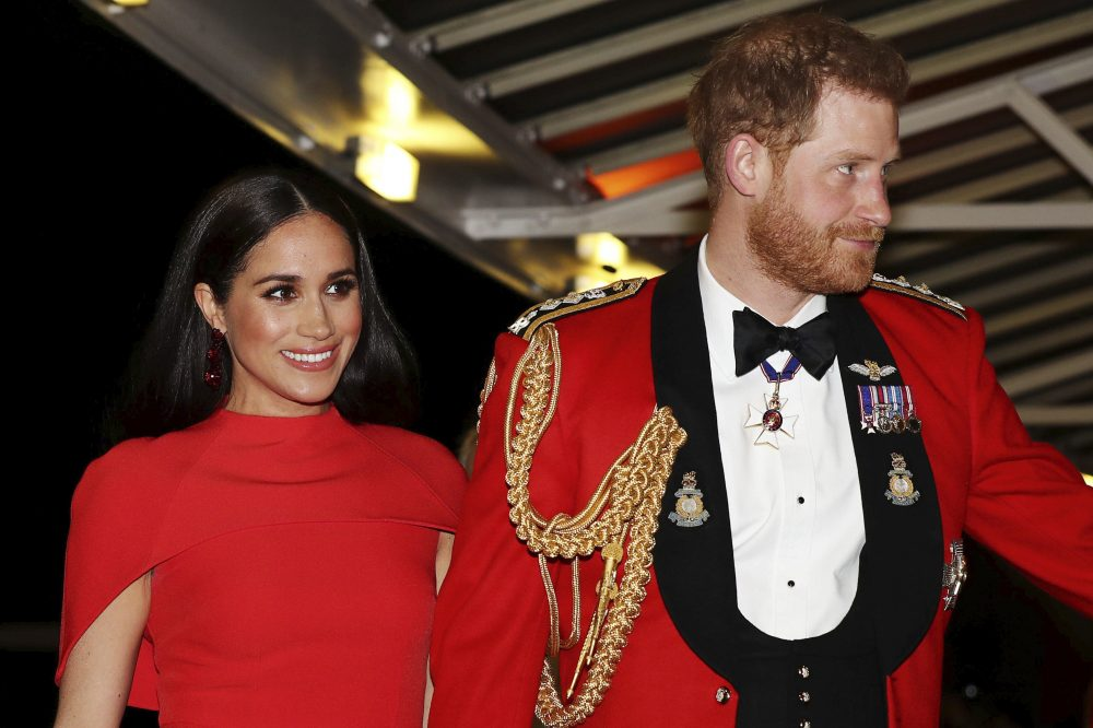Britain's Prince Harry and Meghan, Duchess of Sussex arrive at the Royal Albert Hall in London on March 7. The couple and their son have moved to Los Angeles to begin the next chapter away from the throne.