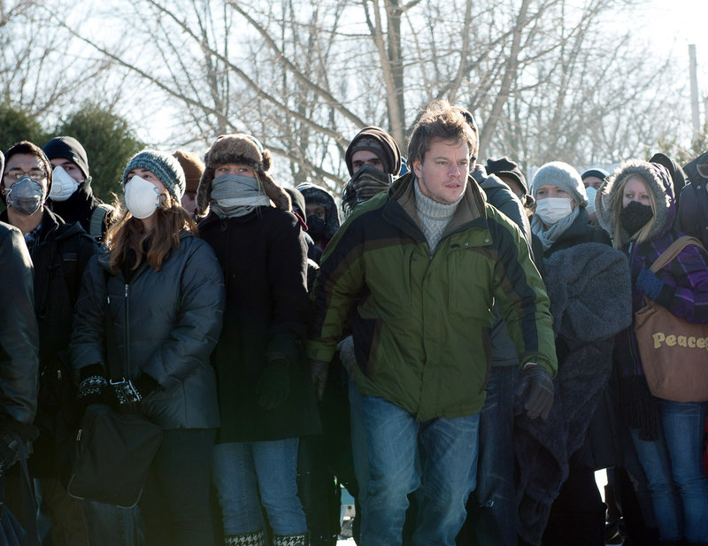 """This image released by Warner Bros. Pictures shows Matt Damon in a scene from the film """"Contagion."""""""