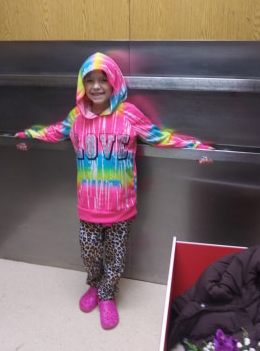 Drive-by shooting victim Emahleeah Frost, 7, was on her way back to Waterville on Thursday after being discharged from a Portland hospital where she was treated for a bullet lodged between two vertebrae in her back.