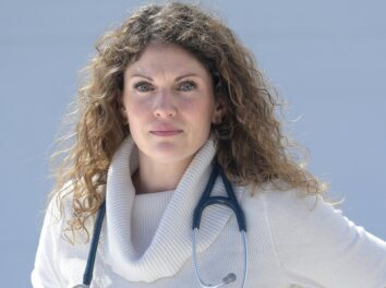 MONMOUTH, ME - MARCH 24: Abbi Hoke M.D. helped draft a public letter that several physicians in Central Maine signed Tuesday March 24,2020 that encourages residents of Maine to stay home during the coronavirus pandemic.Staff photo by Andy Molloy