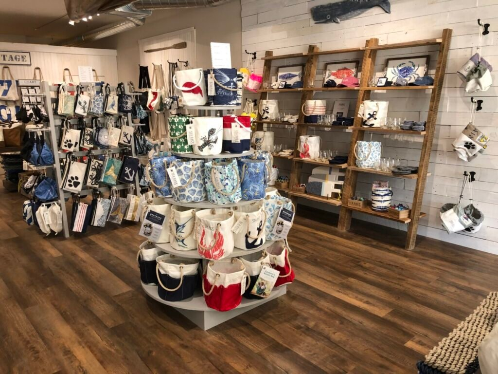 The interior of the Sea Bags store in Saugatuck, Mich., which is slated to open on April 3. The Portland-based business is expanding west, with several new store openings planned.