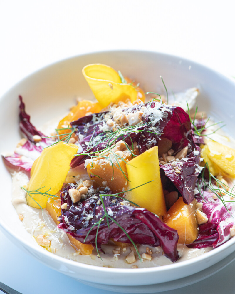 No goat cheese here. Little Giant's vegan beet salad is one of many vegan dishes on offer for Maine Restaurant Week.