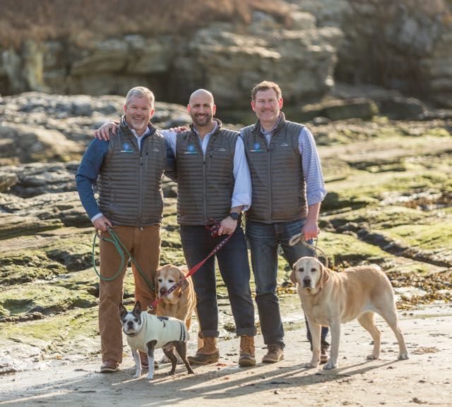 From left to right: Mat Campbell, Dan Espinal and Sean Miller, founders of Rarebreed Veterinary Partners.
