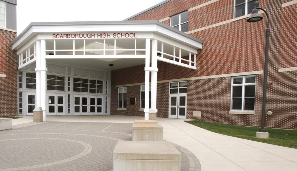 Scarborough Superintendent Sandy Prince said Thursday that an adult who was briefly at the Eight Corners Primary School has tested positive for COVID-19. On the same day, officials from Scarborough High School sent an email reminding students and their families of the ban against group sports practices.