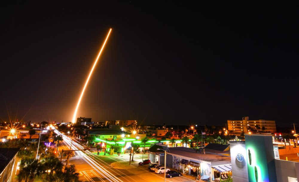 A SpaceX Falcon is launched from Cape Canaveral, Fla., on Friday with a load of supplies for the International Space Station.