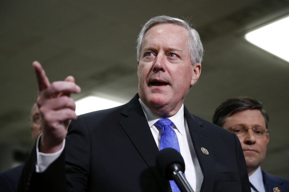 Rep. Mark Meadows, R-N.C., photographed Jan. 29, was named Friday as President Trump's chief of staff, replacing Mick Mulvaney, who had been acting in the role.