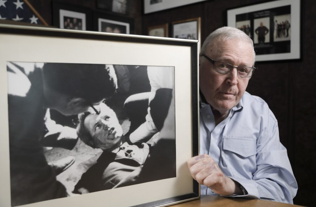 Boris Yaro, who was a Los Angeles Times reporter in 1968, was at the Ambassador Hotel in Los Angeles the night Robert F. Kennedy was shot. He photographed the stricken senator who died the next day.
