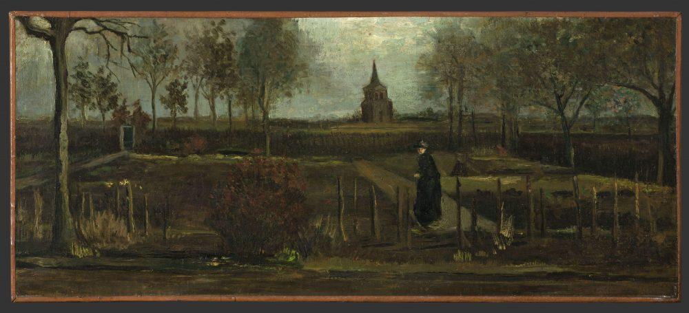 """This image released by the Gronninger Museum shows Vincent van Gogh's painting titled """"The Parsonage Garden at Nuenen in Spring"""" that was stolen from the Singer Museum in Laren, Netherlands, on March 30."""