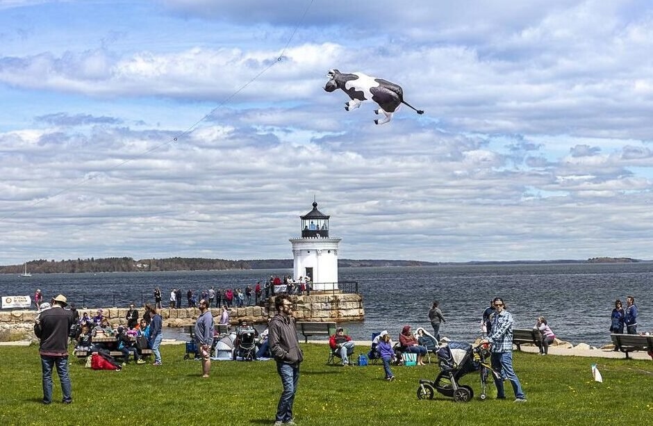 Bug Light Park in South Portland, home to popular summer events that have been canceled because of the coronavirus pandemic.
