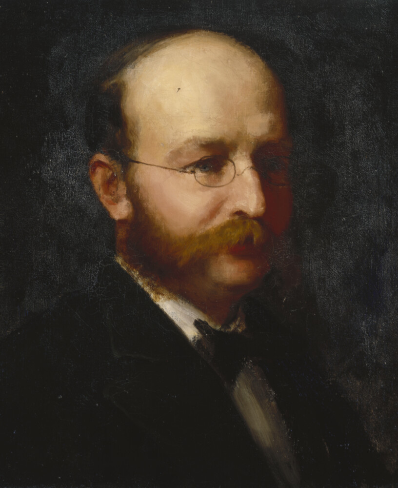 John Knowles Paine, in this portrait painted by Caroline A. Cranch ca. 1885 - 1890.