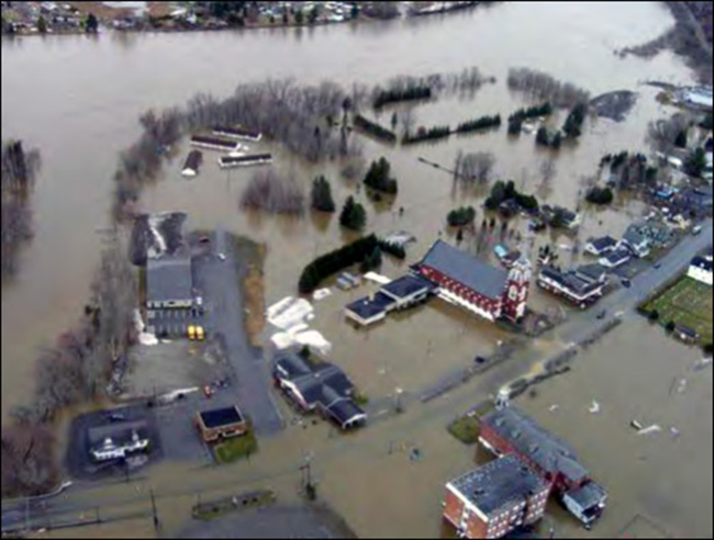 May 1, 2008, in Fort Kent, where the St. John River crested at 30.17 feet.