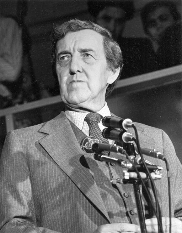 Secretary of State Edmund Muskie is photographed in 1980. The Maine native was a driving force behind the nation's Clean Air and Clean Water acts.