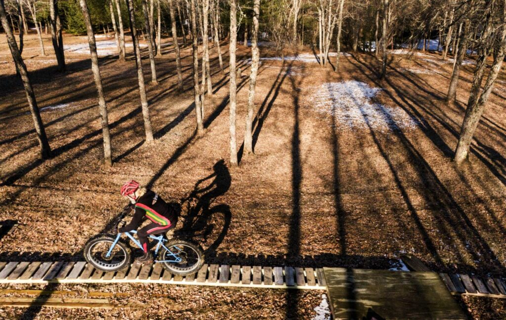 Sidelines: For Glenn and Laurie Fenlason, mountain biking trails are a source of comfort