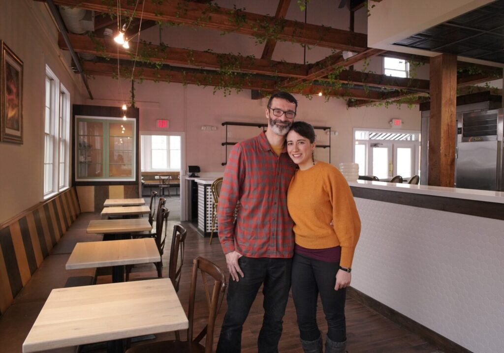 "Husband and wife team Kyle Robinson and Yazmin Saraya were looking forward to opening Chez Rosa, their new restaurant in Kennebunkport, on April 2 but the COVID-19 pandemic has put their plans on hold. ""We don't know what to expect. We don't know how much longer this is going to be. That is the scariest part,"" Saraya said. ""We are trying to stay optimistic."""