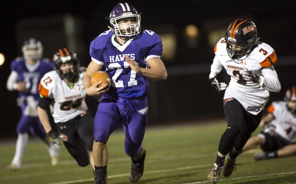 Marshwood's Justin Bryant, the 2019 Fitzpatrick Trophy winner, is one of three members of the Class B state champions named to the West roster for the Maine Shrine Lobster Bowl.