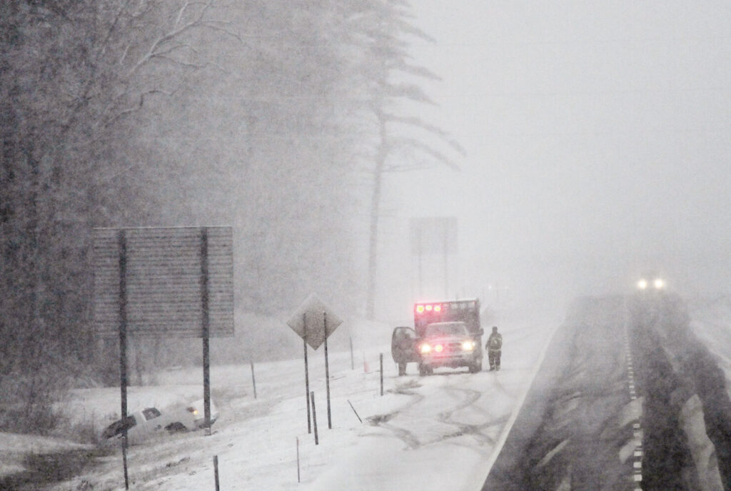 Maine Snow Storm Causes Power Outages