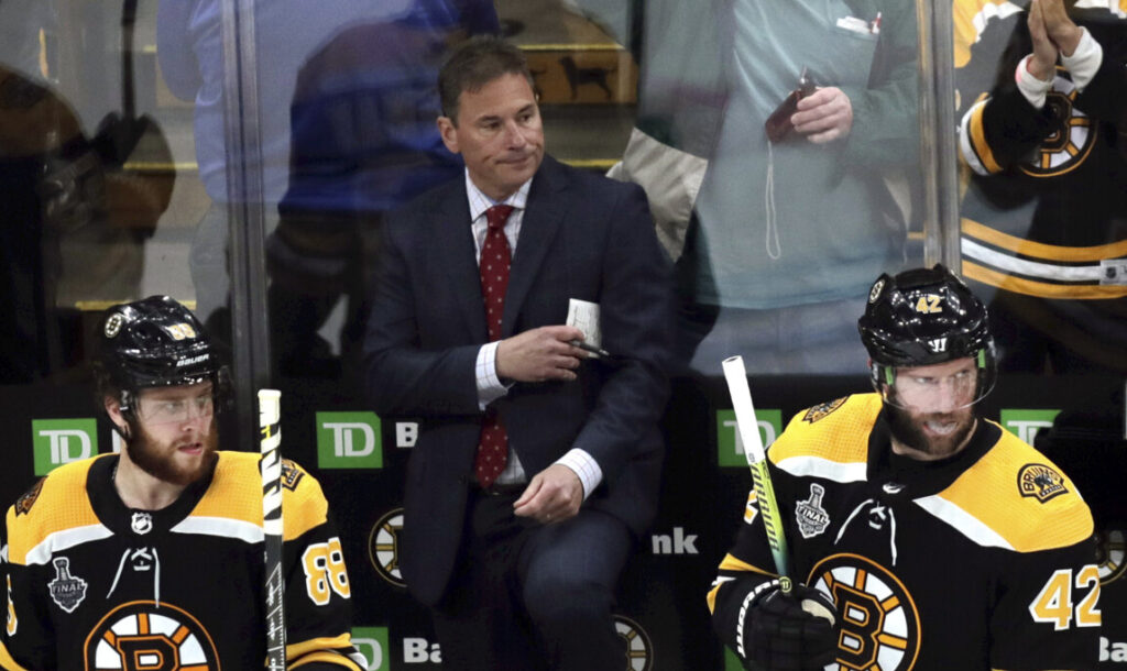 Boston Bruins Coach Bruce Cassidy thinks players will need two weeks on the ice before they could start playing games again.