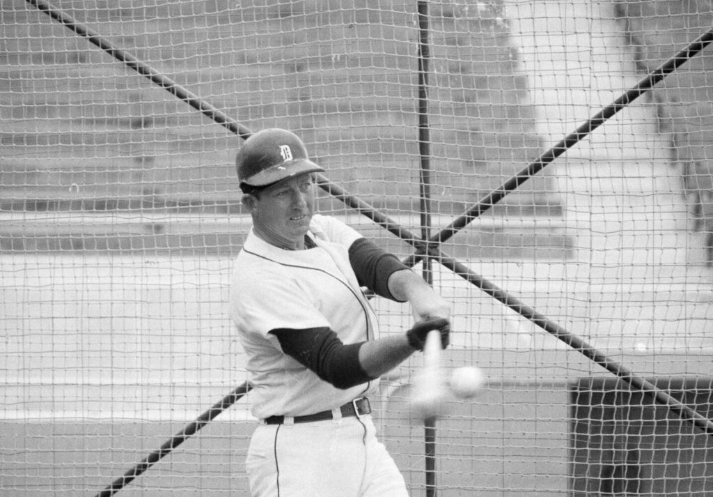 Baseball Hall of Famer Al Kaline, who hit 399 home runs in 22 seasons with the Detroit Tigers, died on Monday.