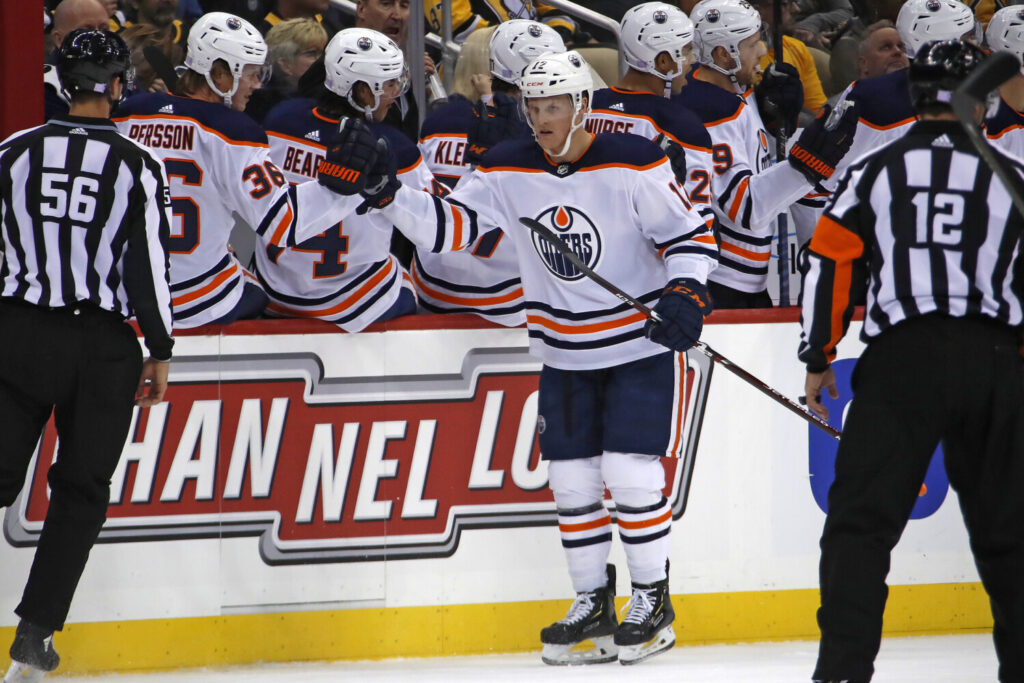 Edmonton Oilers' forward Colby Cave is in the critical care unit in a Toronto hospital after suffering a brain bleed.