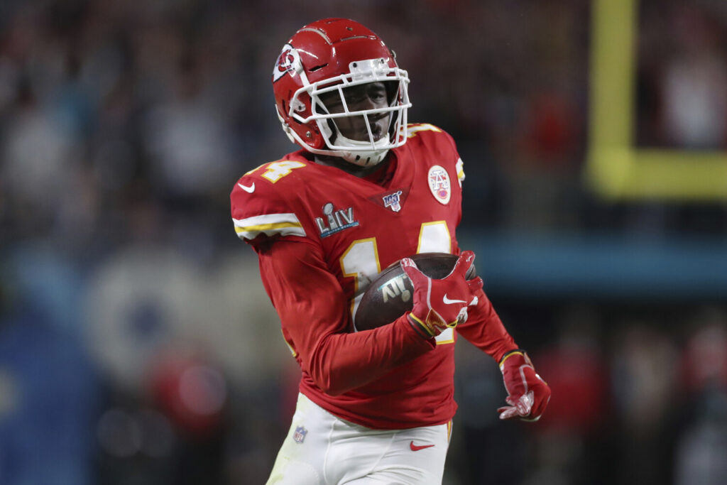 Wide receiver Sammy Watkins, who helped the Chiefs win the Super Bowl, reportedly agreed to a one-year deal to give Kansas City salary cap relief.