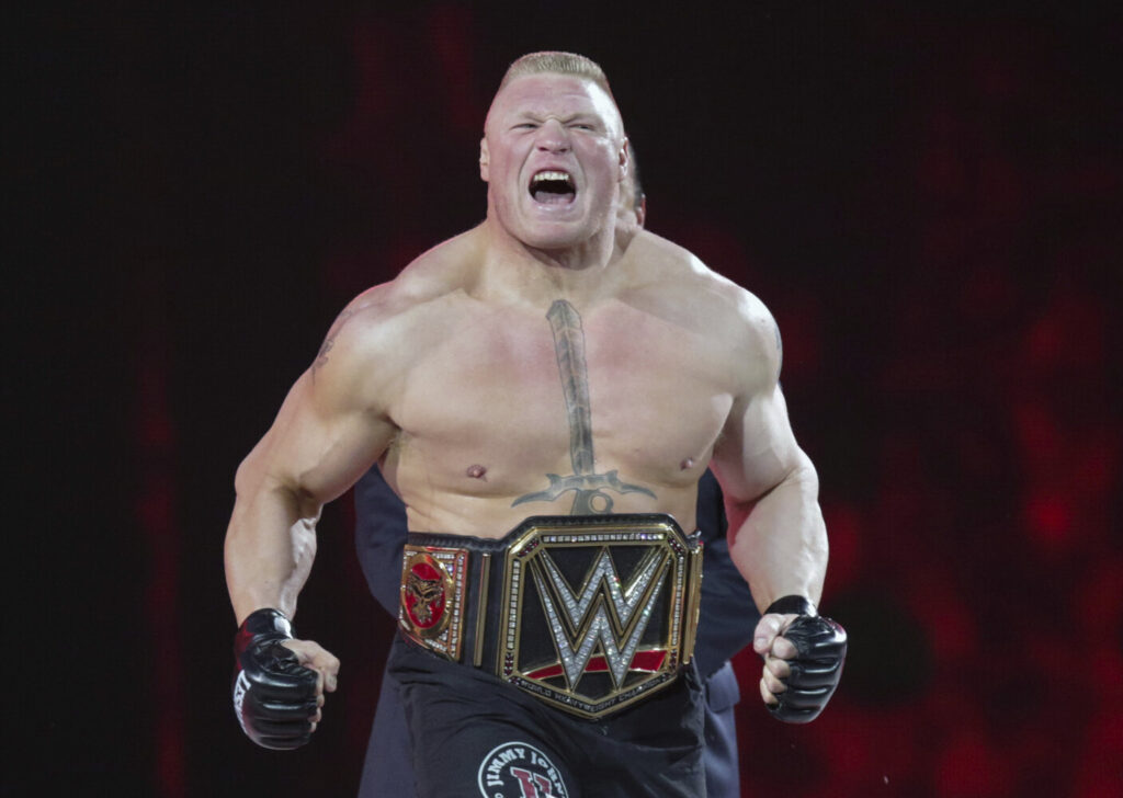 Brock Lesnar is scheduled to perform at WrestleMania this weekend. The event, which will take place Saturday and Sunday, is going on despite the coronavirus pandemic that has shut down pretty much every other  event. WWE will hold the show without fans, mostly at its training center in Orlando, Florida.