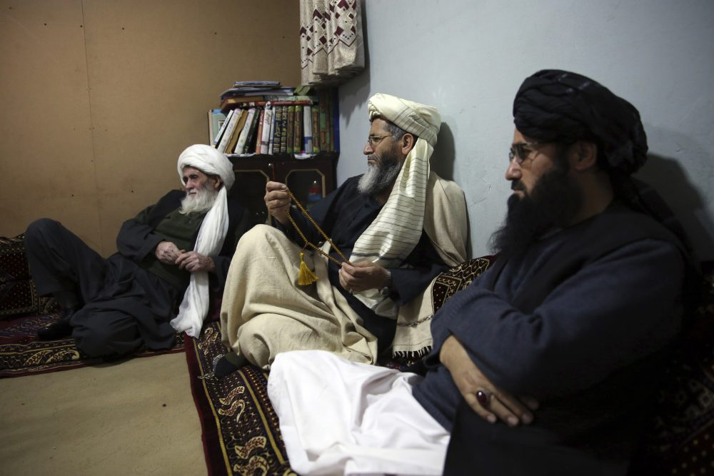 Jailed members of the Talibans are seen after an interview with The Associated Press inside the Pul-e-Charkhi jail in Kabul, Afghanistan, in December last year. The Taliban confirmed Sunday that the group will release 20 Afghan government prisoners.