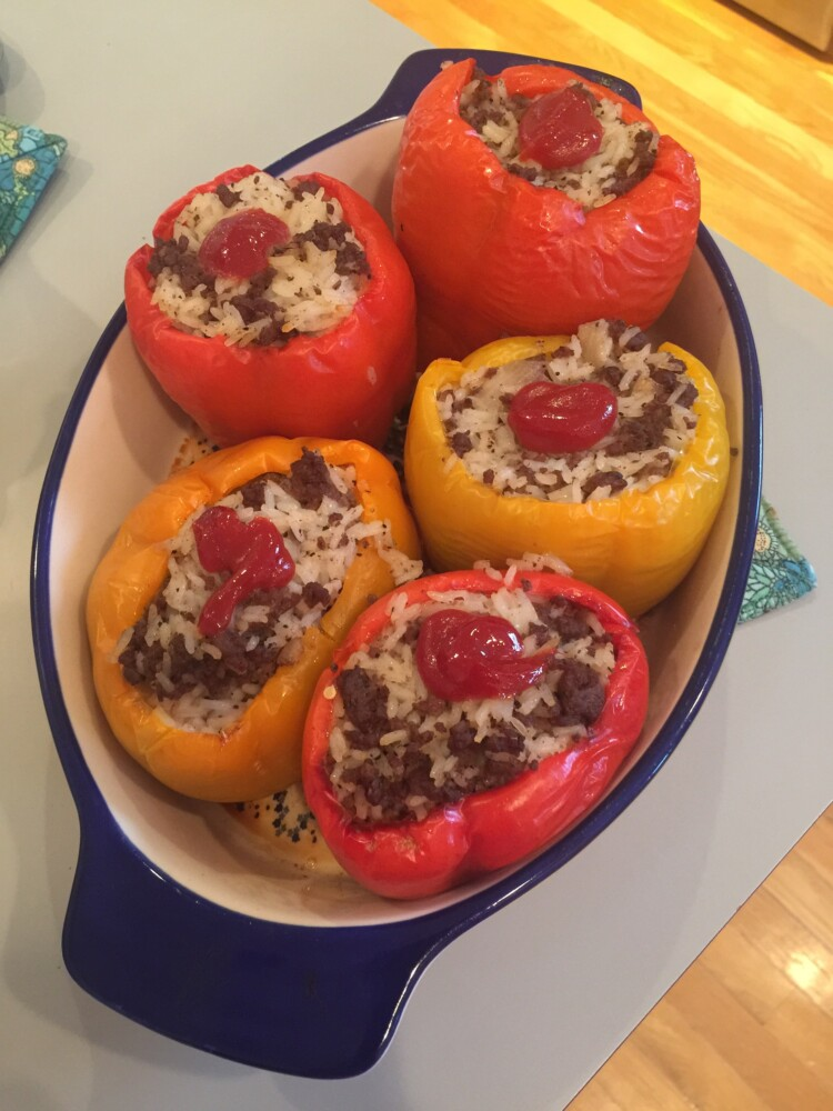Portland grandmother Anne Holliday Abbott has been making this recipe for Stuffed Bell Peppers for 50 years. In tough times, it's always brought the family comfort.