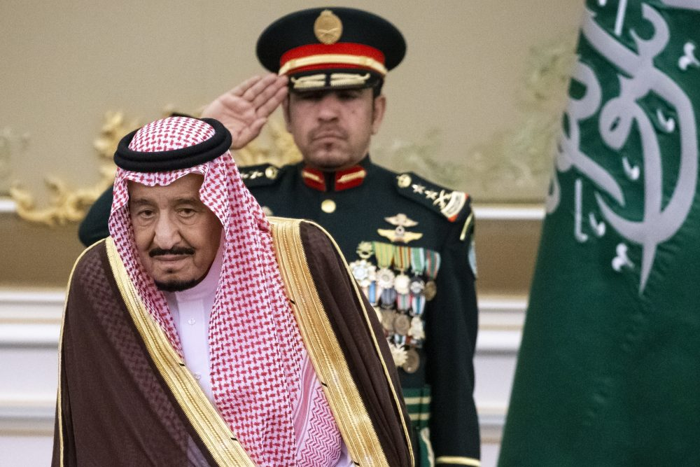 Saudi Arabia's King Salman attends the official welcome ceremony for Russian President Vladimir Putin in Riyadh, Saudi Arabia, last year. Salman ordered an end to the death penalty for crimes committed by individuals when they were minors, according to a statement Sunday.