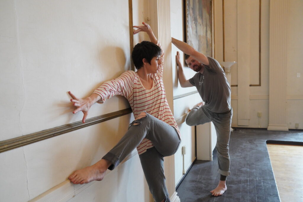 "Laura K. Nicoll, left, and Rufus Morgan Kreilkamp Nicoll will be ""in residence"" virtually at Opera House Arts, May 3-9."