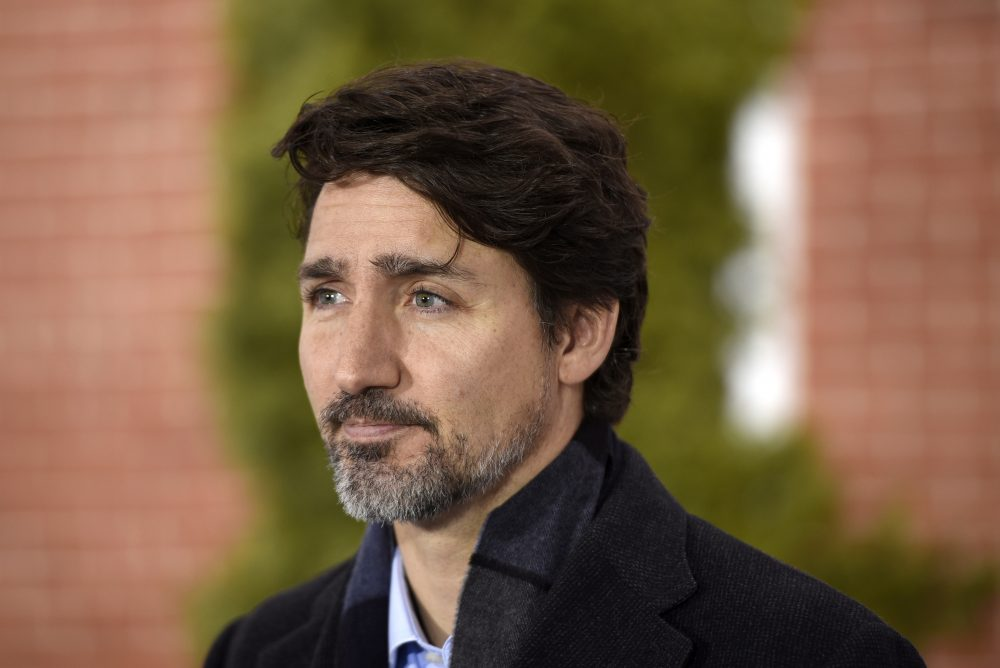 """Canada's Prime Minister Justin Trudeau says, """"I know I've said the same thing before every major holiday over the past year. But this time, what's different is that even if the end of the pandemic is in sight, the variants mean the situation is even more serious."""""""