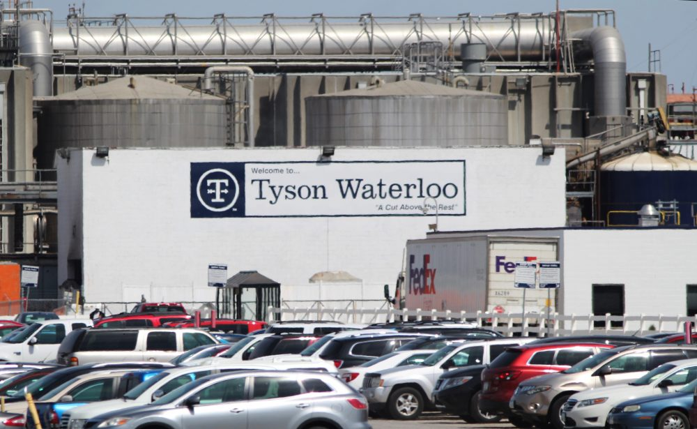 Tyson Foods suspended operations at its Waterloo, Iowa, meat processing plant on Monday after workers there tested positive for the coronavirus. The president plans to use the Defense Production Act to classify meat processing as critical infrastructure to keep production plants open.